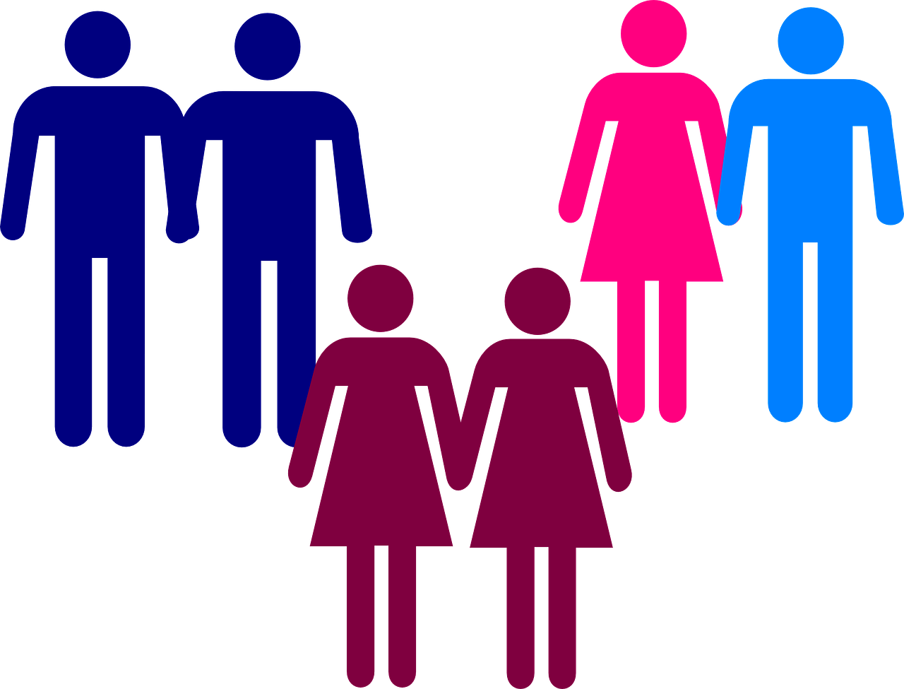 couples, pictogram, gay